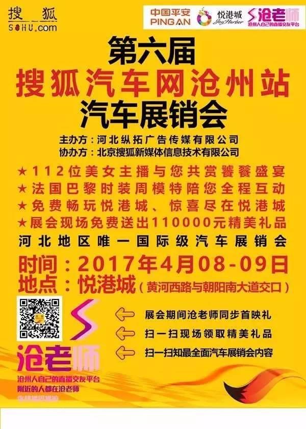 2017第六届搜狐汽车展销会沧州站