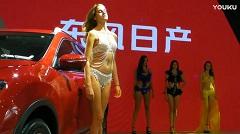 2017武汉华中国际车展东风日产展台外模表演