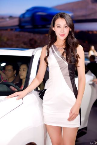 2017广州车展车模:最美车模在这里