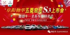 阜阳物华五菱宏光S3上市会暨双十一全系车型车展特卖会