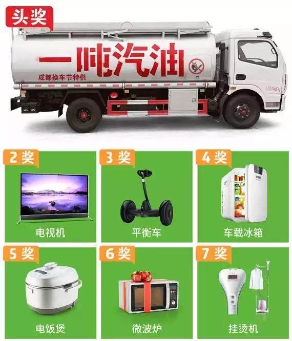 成都首届惠民换车节 订车抽1吨油