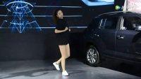 2018沈阳国际车展:美女舞者身高175 身材高挑舞姿动人颜值漂亮