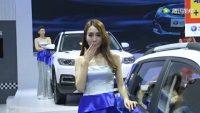 青岛国际车展上车模美女大长腿