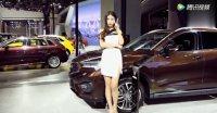 杭州汽车博览会模特汝冰,这个小姐姐很漂亮,比车展还吸引人!