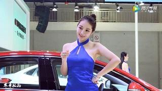 2018宁波国际车展模特刘思齐展台风采