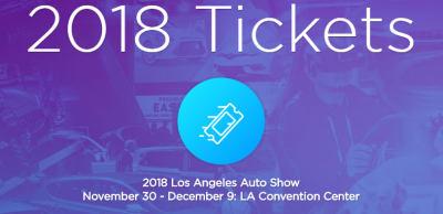 2018洛杉矶车展门票现已开始发售
