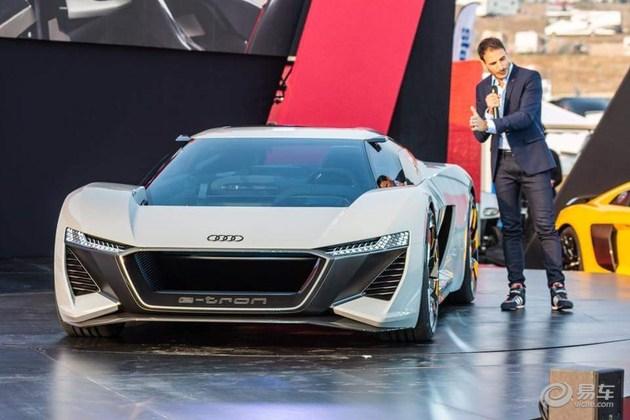 2018圆石滩车展:奥迪纯电动超跑PB18 E-tron