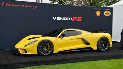 2018圆石滩车展:Hennessey Venom F5亮相 最强内燃机诞生