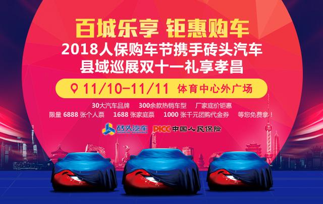 2018人保购车节砖头汽车县域巡展双十一孝昌站