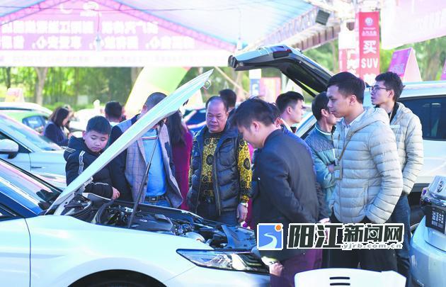 阳江元旦车展持续热销 销量突破600辆