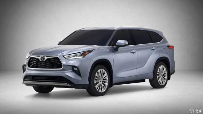 丰田全新汉兰达官图发布 纽约车展首发