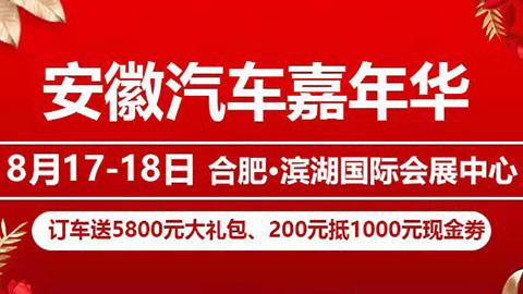 2019安徽汽车嘉年华(8月展)