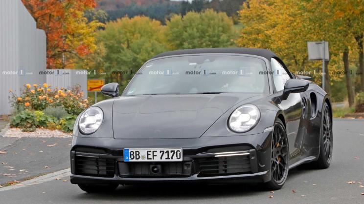 新保时捷911 Turbo敞篷版谍照 有望洛杉矶车展正式首发
