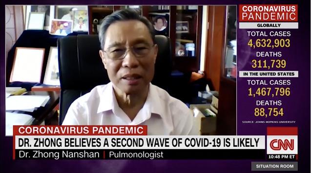 钟南山接受CNN采访