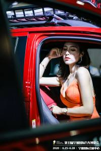 2020宁波车博会开幕 靓丽的车模小姐姐等你