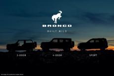 福特发布全新Bronco预告图 三种车型可选