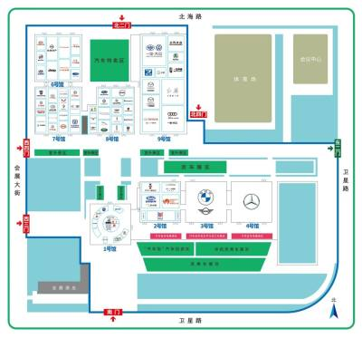 2020第十七届长春汽博会展位图新鲜出炉