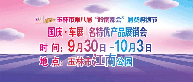 2020玉林市第八届岭南都会消费购物节国庆车展